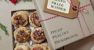 this buttery pecan praline thumbprint cookie won the 2016 holiday