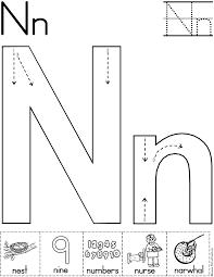Letter Recognition Worksheets Alphabet Letter N Worksheet Standard Block Font Preschool