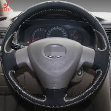 toyota corolla steering wheel cover xuji multicolor leather stitched car steering wheel cover for