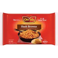 ore ida ctry style shredded hash browns 6 lb walmart com