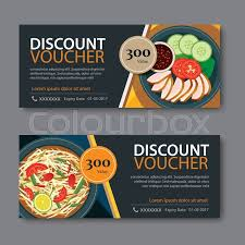element cuisine discount discount voucher template with food flat design stock vector