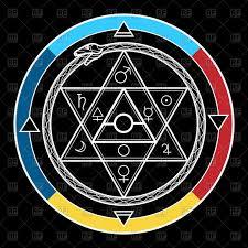 alchemy symbol mystical astrological sign with star of david