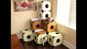 cat house u0026 cat toys diy from cardboard boxes youtube