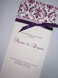 purple wedding programs abi s and brian wedding at the of houston