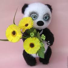buy teddy bear panda umi knitted toy on livemaster online shop