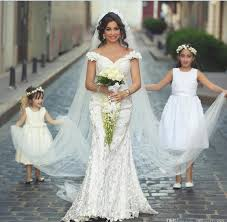 arabic style mermaid lace wedding dresses 2017 new off the