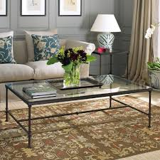 Elegant Glass Coffee Tables Wood Glass Top Coffee Table