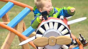 man builds backyard roller coaster for son wdtn