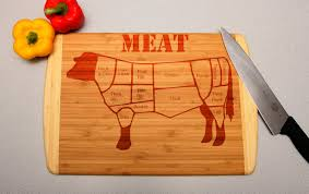 cutting board wedding gift cow meat sections custom engraved cutting board wedding gift