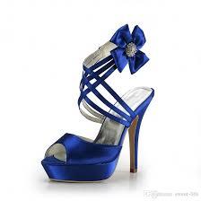 wedding shoes royal blue 2017 fashion cheap royal blue wedding shoes open peep top platform
