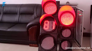 led traffic signal lights countdown timer combined with led traffic signal youtube