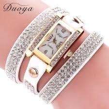 quartz diamond bracelet images Duoya brand luxury diamond bracelet watch women watches long jpg