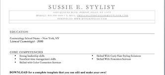 Hairdresser Resume Cosmetologist Resume Example Cosmetology Resume Cosmetologist