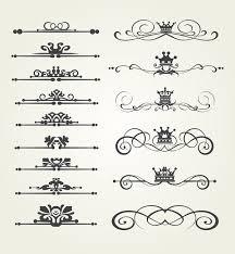 retro border ornaments design set vector 02 vector frames