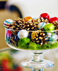 christmas table centerpieces eco christmas table decorations made of pine cones