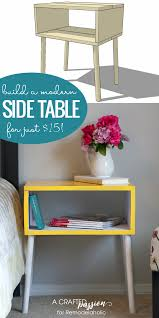 Modern Side Table Remodelaholic 15 Easy Diy Modern Side Table Building Plan