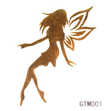 the fairy pixie gold flash tattoo metallic tattoos temporary