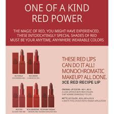 stylenanda 3ce red recipe lip color original and matte lipstick