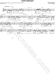 stevie wonder happy birthday stevie wonder happy birthday sheet music leadsheet in c major