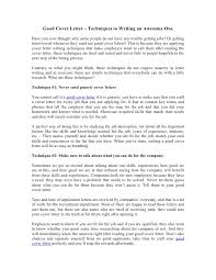 Example Of A Great Cover Letter For Resume by Successful Cover Letter