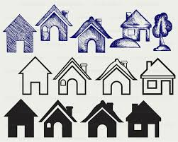 House Silhouette by House Svg House Clipart House Svg House Silhouette House Cricut