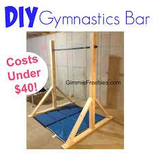 Winter Garden Gymnastics - how to make a gymnastic practice mini bar at home under 40