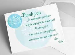 bridal shower thank you notes shower thank you card ideas