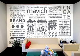 our work signature wall graphics
