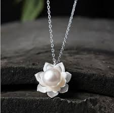 sterling silver flower necklace images Buy 925 sterling silver lotus flowers necklace jpg