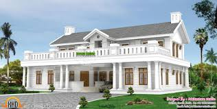 gorgeous sqm colonial style villa also kerala kerala home design