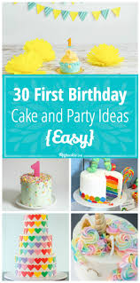 1st Birthday Cake 30 First Birthday Cake And Party Ideas Easy Tip Junkie