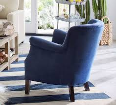 Petite Furniture Living Room by Soma Petite Minna Roll Arm Upholstered Armchair Pottery Barn