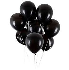 black balloons utopp 50 pcs black balloons 12 inches ultra thickness