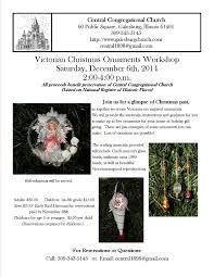 victorian christmas ornament workshop central congregational