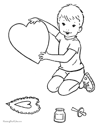 printable valentine coloring pages 012
