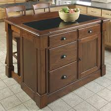kitchen island with shop home styles brown midcentury kitchen island with 2 stools at