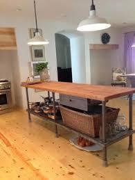 Kitchen Island Butcher Block Kitchen Island Industrial Butcher Block Style Reclaimed Wood And