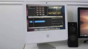 Imac Desk by My Desk Using A Late 2006 Imac Alongside Other Technology Youtube
