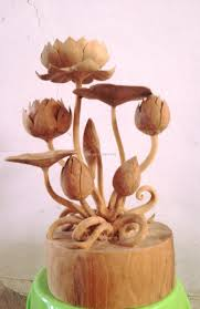 wood flowers carving wooden flowers upcycle