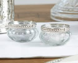 silver tea light holders petite glass tea light holder with silver fleck set of 4 candle