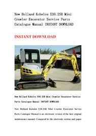 new holland kobelco e30 2 sr mini crawler excavator service parts cat u2026