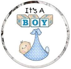 it s a boy baby shower preprinted baby shower favor candy kisses labels stickers