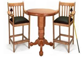 Oak Bar Table Spectator Pub Table Set Oak