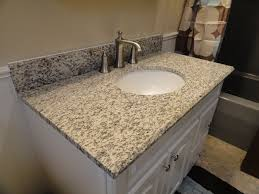Vanity Countertops With Sink Tiger Skin Granite Vanity Countertops Traditional Bathroom