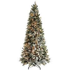 werchristmas pre lit slim snow flocked spruce multi function