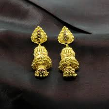 gold ear rings images yellow gold 22k kashvi gold earrings candere