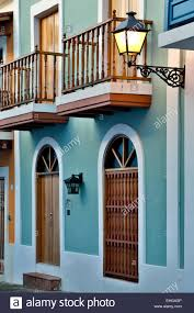 spanish colonial house old san juan puerto rico stock photo