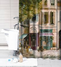 Paris Themed Bathroom Sets by Paris Cafe Shower Curtain Cafe De Paris Bathroom Decor Tsc