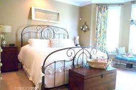 Shabby Chic Metal Bed Frame by Bedroom Appealing Shabby Chic Bedroom Ideas With Iron Bed Frame