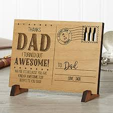 personalized wooden gifts sending to personalized wood postcard dads messages